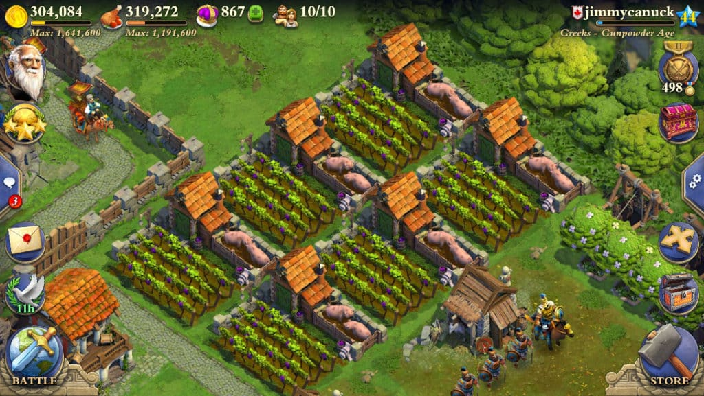 DomiNations harvest