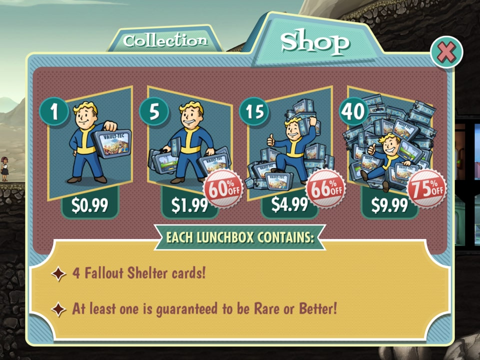 Fallout Shelter lunchbox purchase