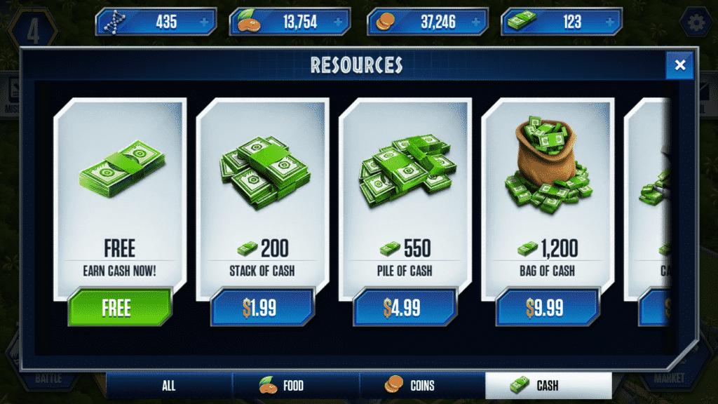 Jurassic World The Game dina bucks dna
