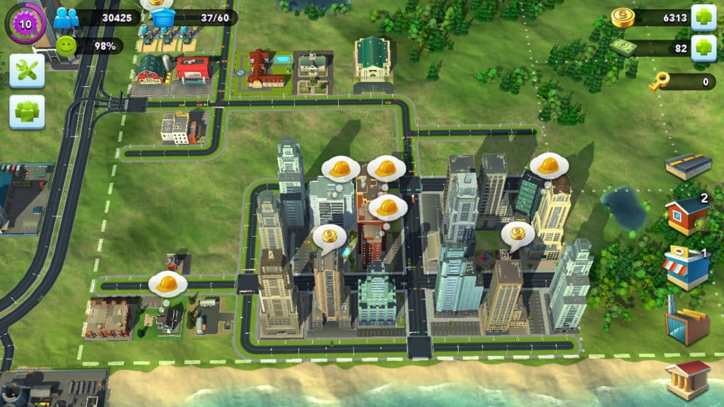 SimCity BuildIt develop grow