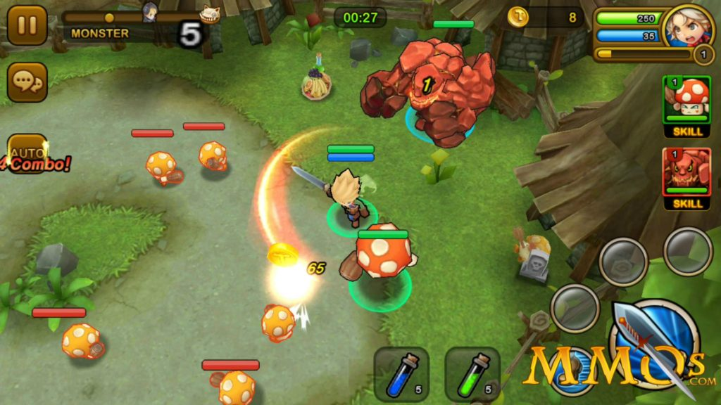 Dungeon Hunter Super Brawl go for back