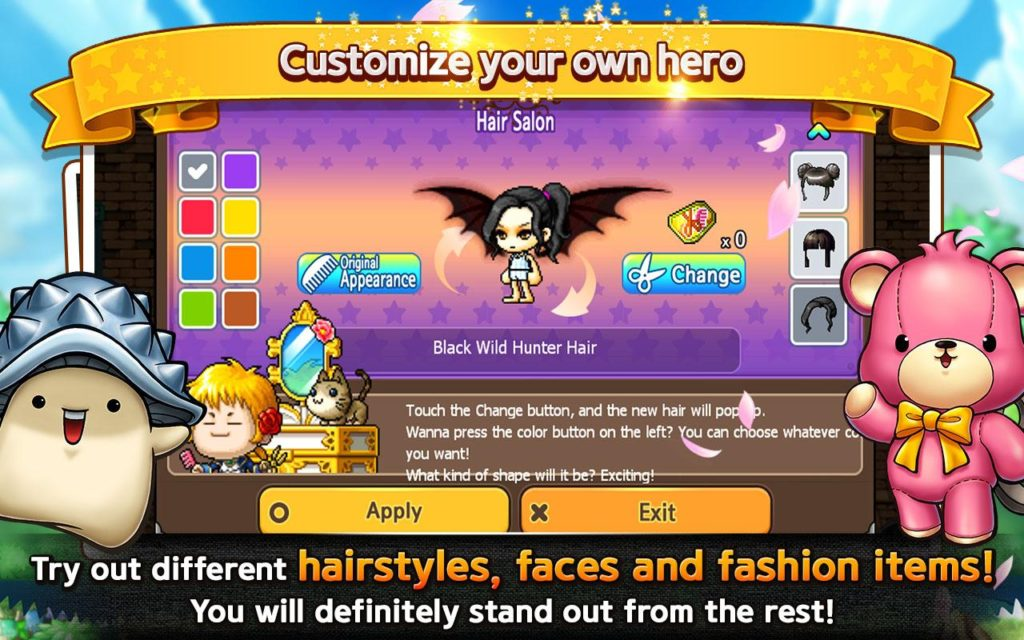 Pocket MapleStory customise hero