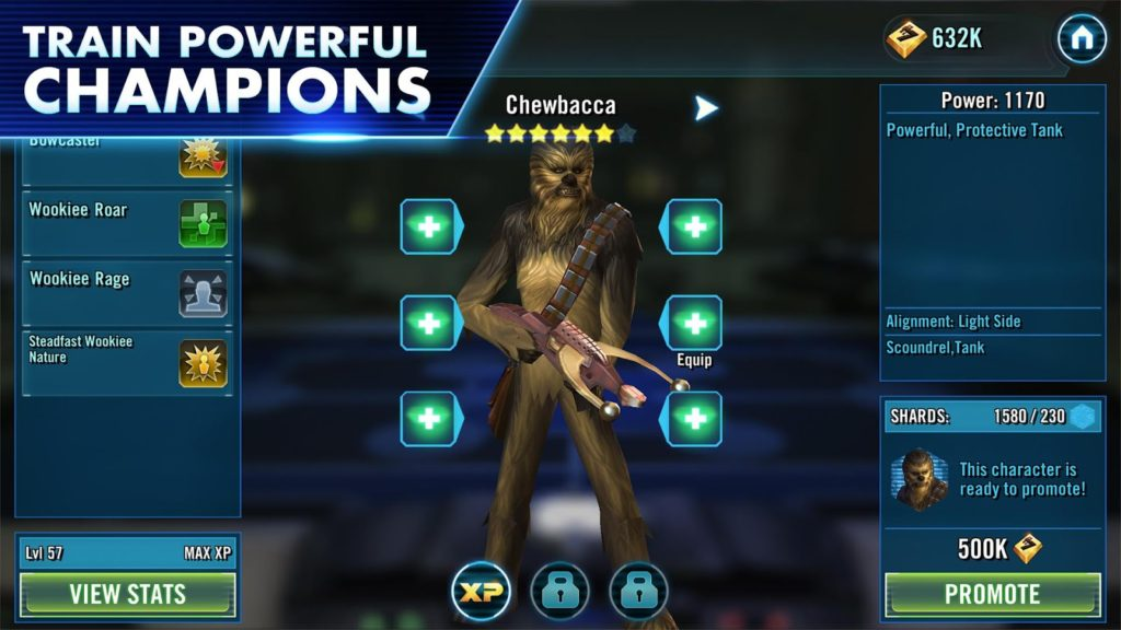 Star Wars Galaxy of Heroes customize