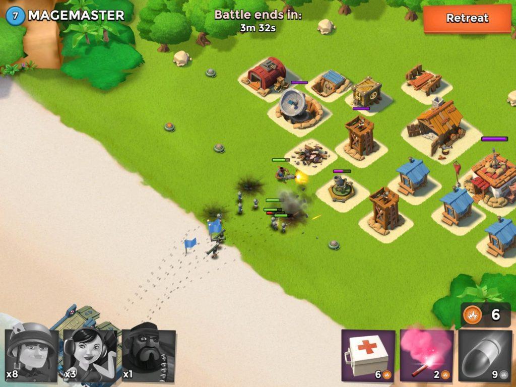 Boom Beach battle gameplay