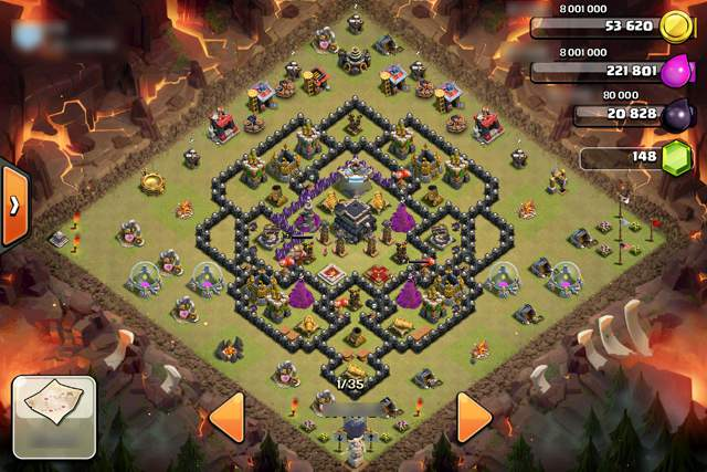 clash of clans layout 2