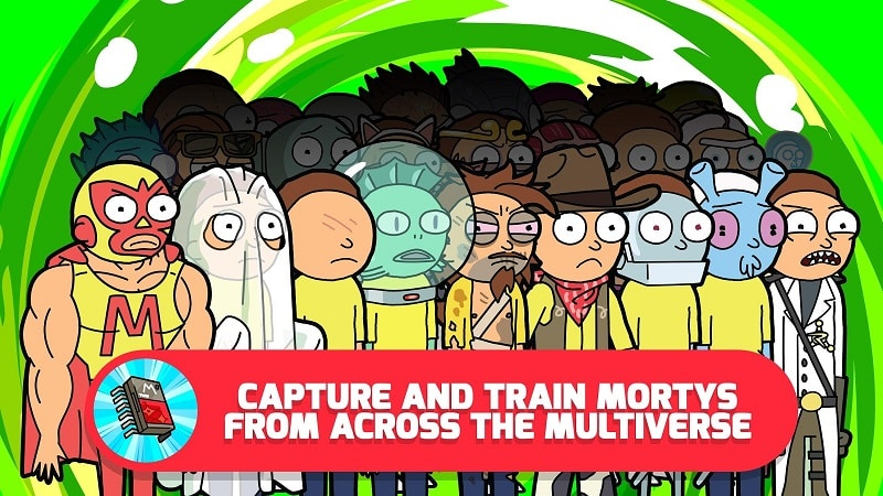 Pocket Mortys collect train